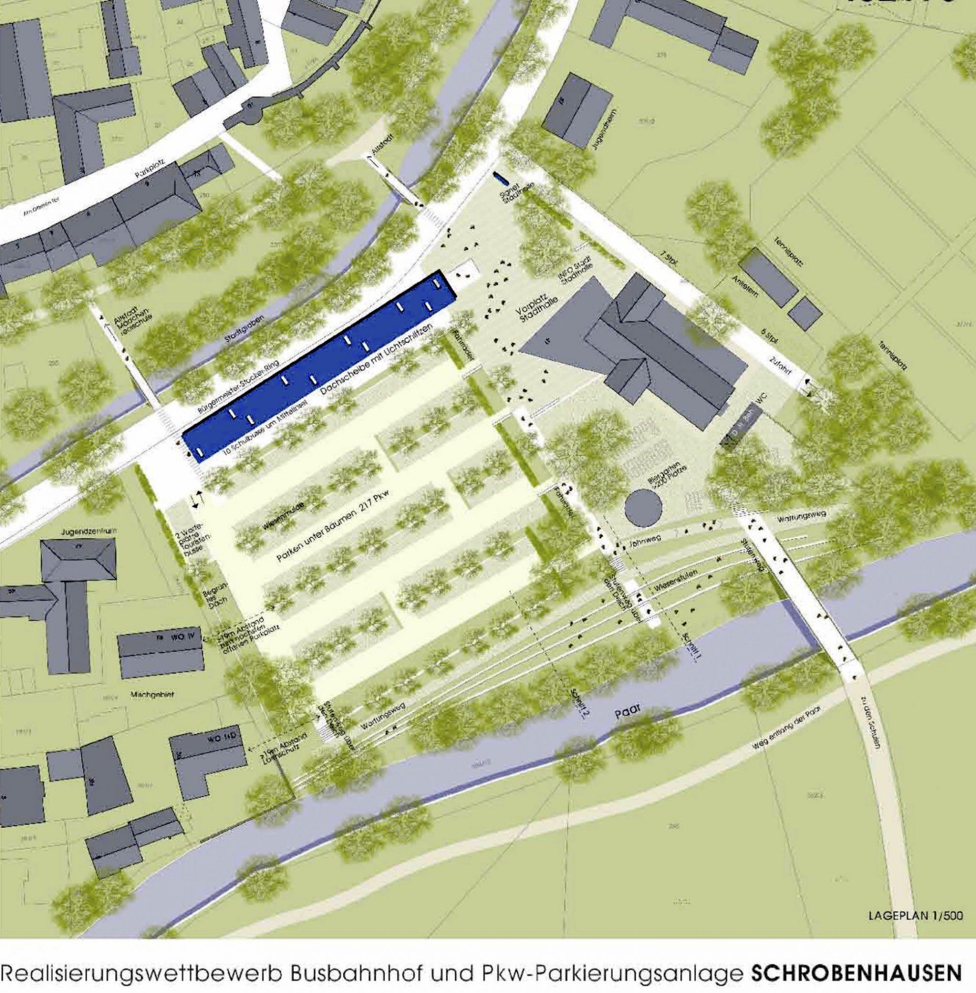 Realisierungswettbewerb Busbahnhof Schrobenhausen